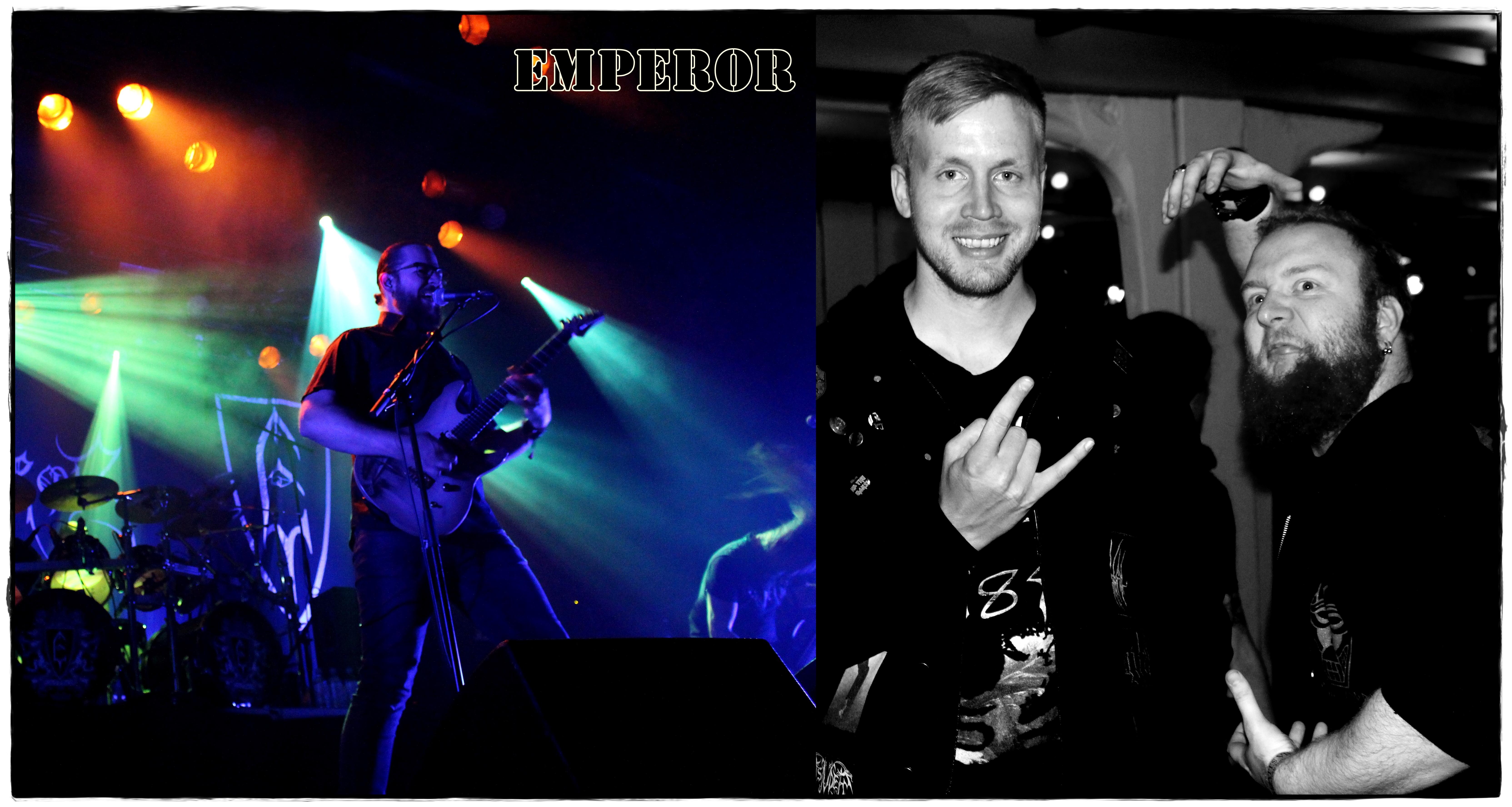 Jon Husom og Kadaver (fra bandet Istårn) er svært fornøyde med Emperor-konserten (Foto: Vigdis Meidell).