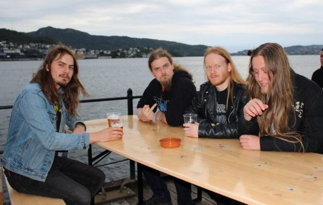 Andreas (Sepulcher), Hauk (Blodhemn), Beleth (Djevelkult) og Invisus (Blodhemn) representerer den nyere norske ekstremmetalscenen (Foto: Vigdis Meidell).